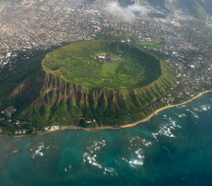 Достопримечательности Гавайских островов (11 фото ... Достопримечательности Гавайских островов карта: Кратер Даймонд Хед фото