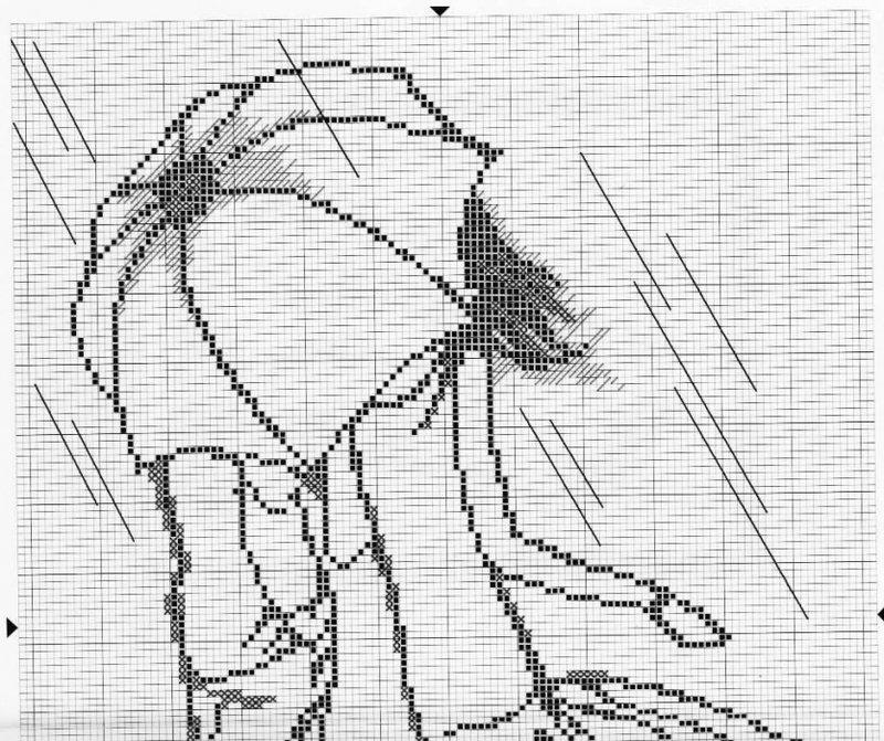 Схема вышивка крестом контур