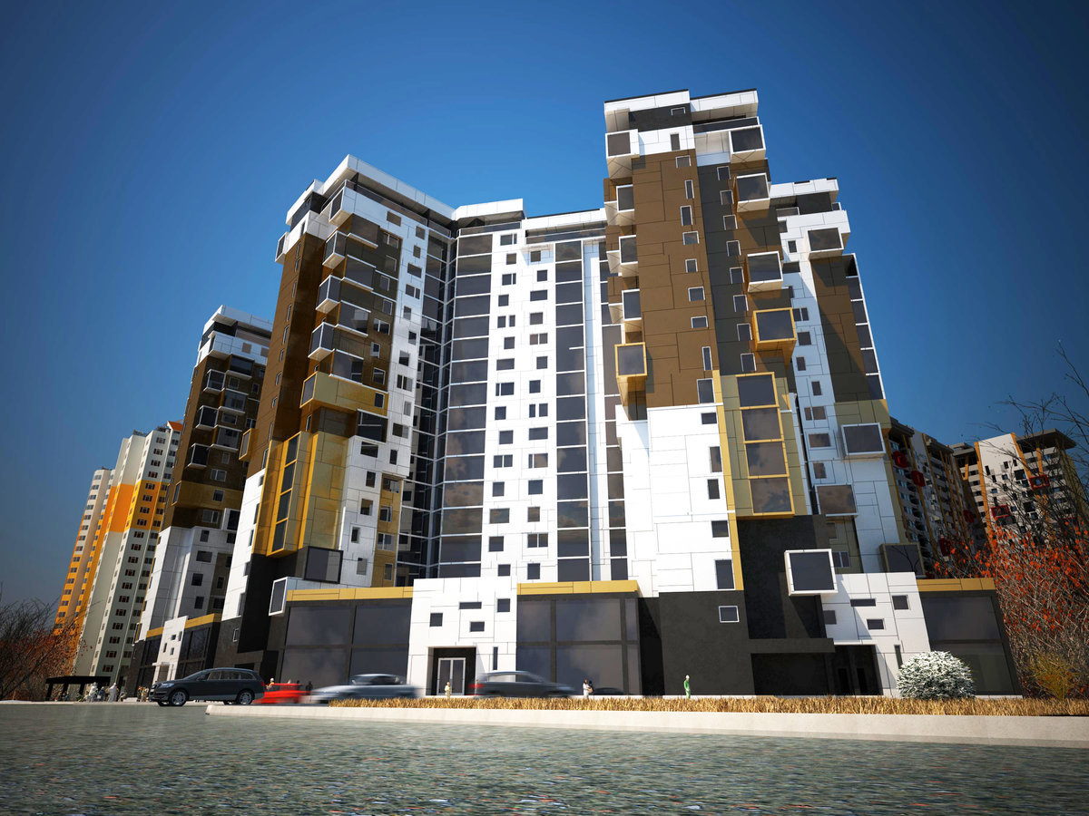 Фото новых проектов многоэтажных домов
