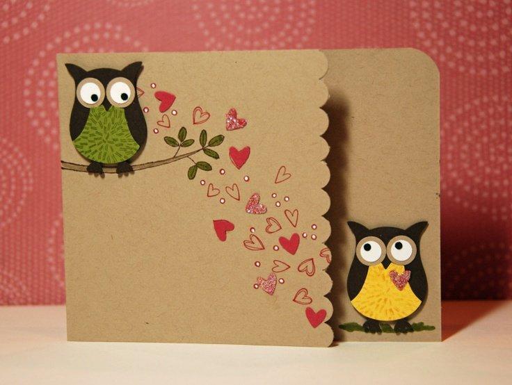 Сова из бумаги открытки с днем рождения