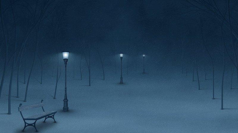 зимний заснеженный  парк