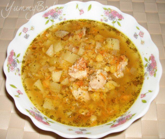 гороховый суп в мультиварке рецепт пошаговый с фото