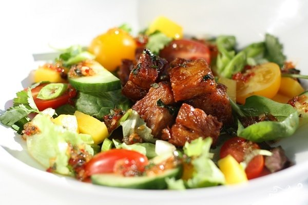 Название мясных салатов фото