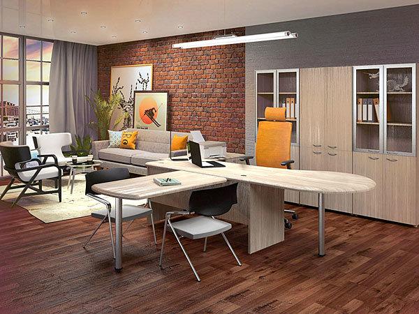Оригинальная концепция современного рабочего кабинета с элементами ар-деко