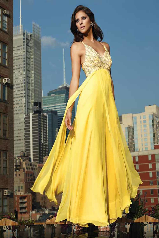 красивое желтое платье картинки