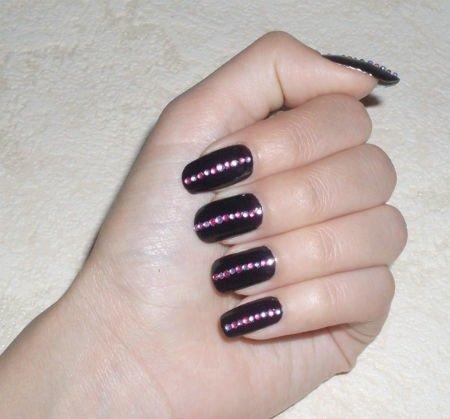 Приклеить стразы на ногти дома? Стразы на ногтях это просто