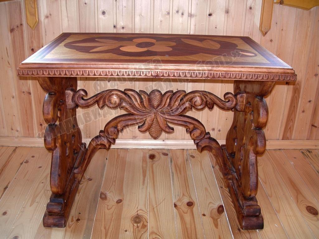 столы из дерева ручной работы фото