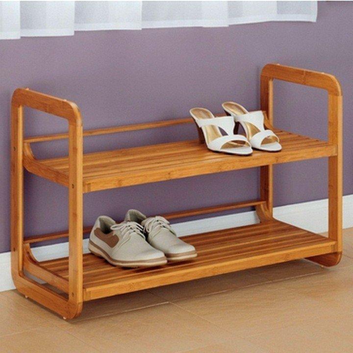 Деревянная полка для обуви