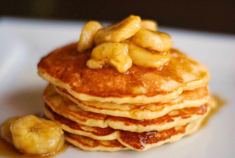 оладьи с бананом пышные на кефире рецепт с фото