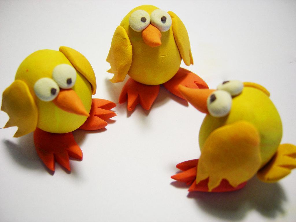 Картинки цыпленка из пластилина людей