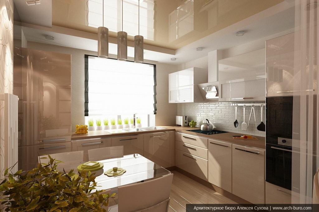 """Дизайн интерьера гостиной совмещённой с кухней-столовой"""" - к."""