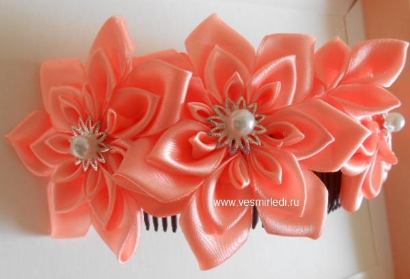 Как сделать цветы из лент: мастер-класс для начинающих