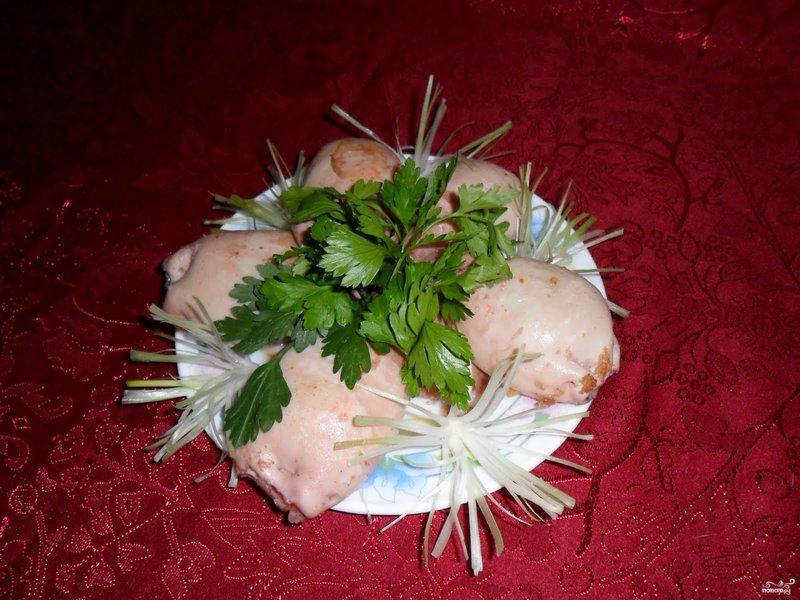 Креветки кальмары грибы салат фото