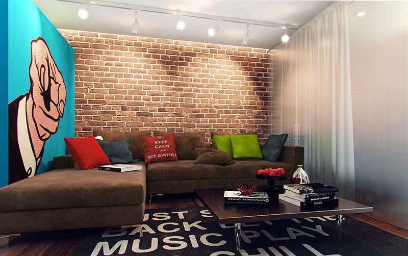 Дизайн интерьера в стиле поп-арт