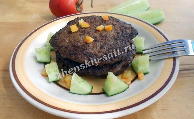 оладьи из свиной печени рецепт с фото пошагово