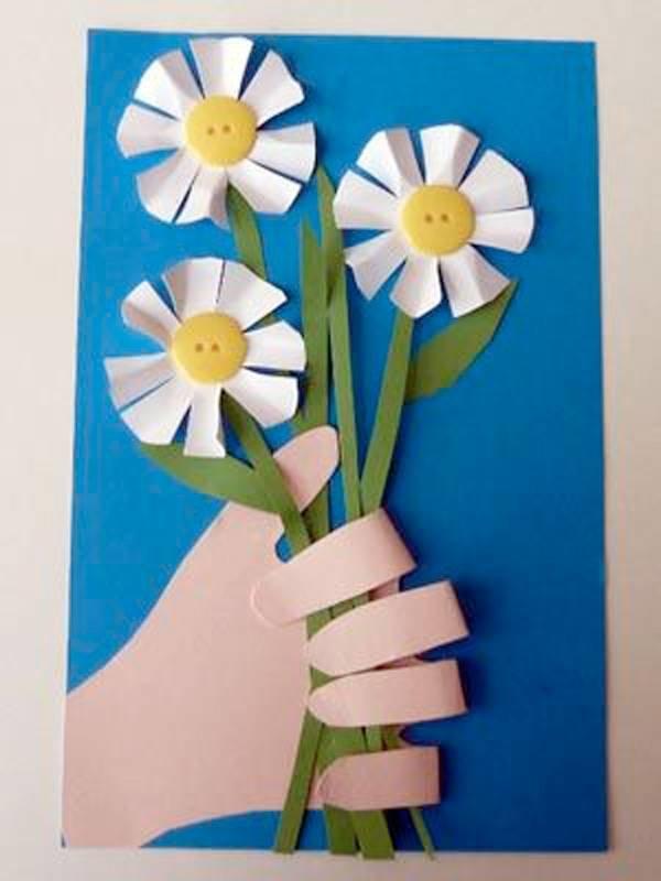 Открытка на 8 марта своими руками с ребенком, открытка