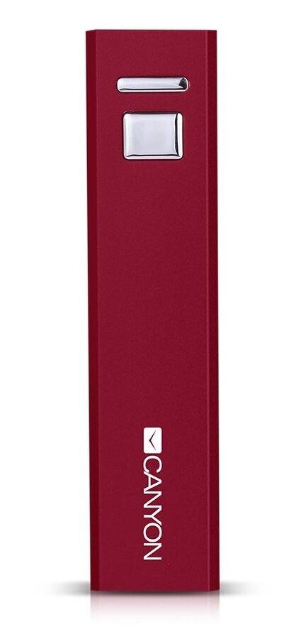 Внешний аккумулятор Canyon CNE-CSPB26R 2600 мАч красный