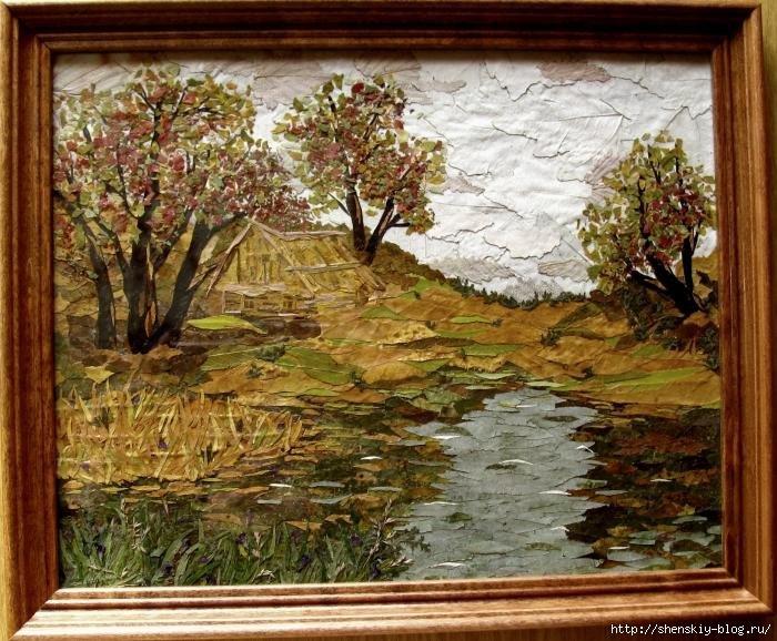 деревья  и речка