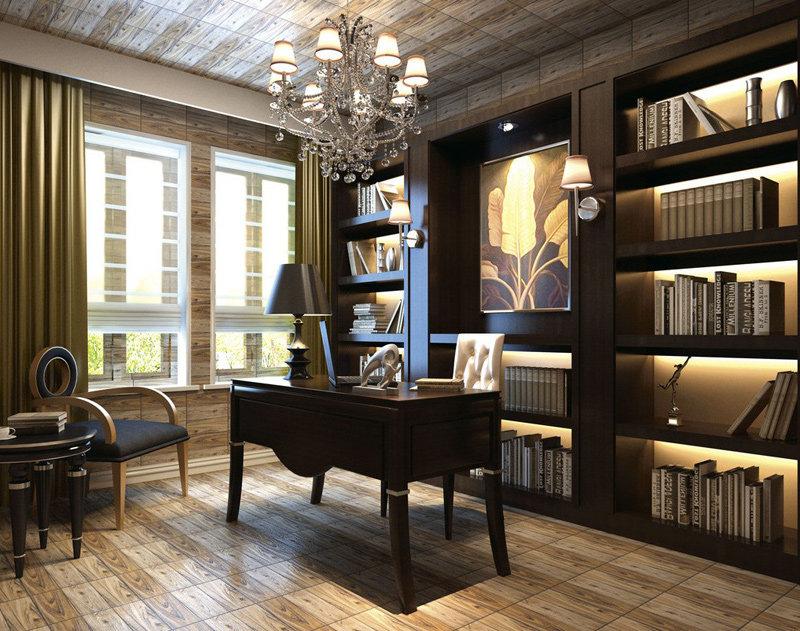 Изысканный домашний кабинет