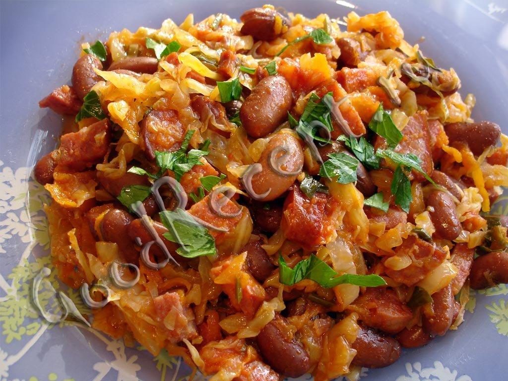 капуста тушёная с колбасой рецепты очень вкусно