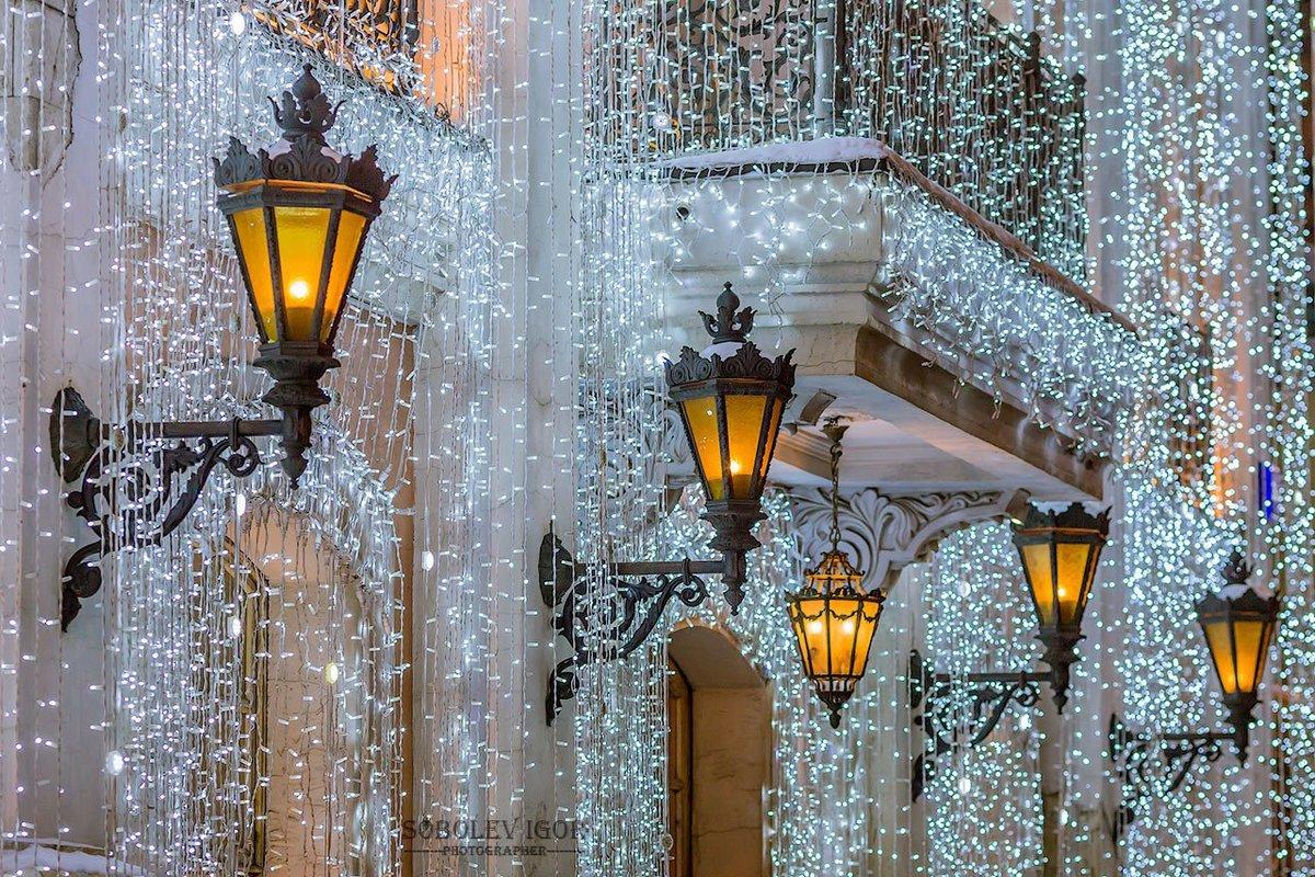 Картинки зимние фонари