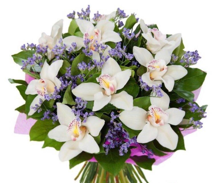 Открытки и букеты из орхидей на день рождение, праздником