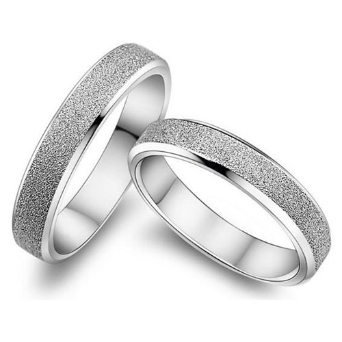 Обручальные кольца из белого золота 585