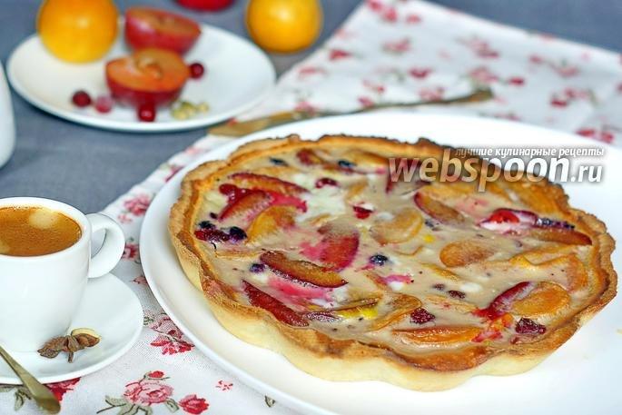 Пирог с замороженной сливой рецепт с фото