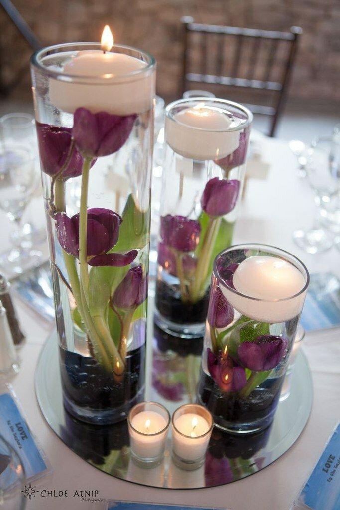 Плавающие свечи в оформлении свадьбы