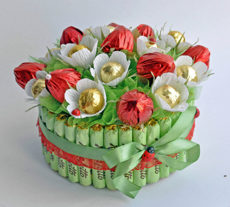 Букет из конфет маме на день рождения