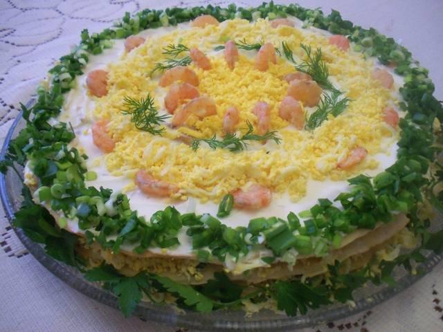 Торт-салат наполеон рецепт с фото
