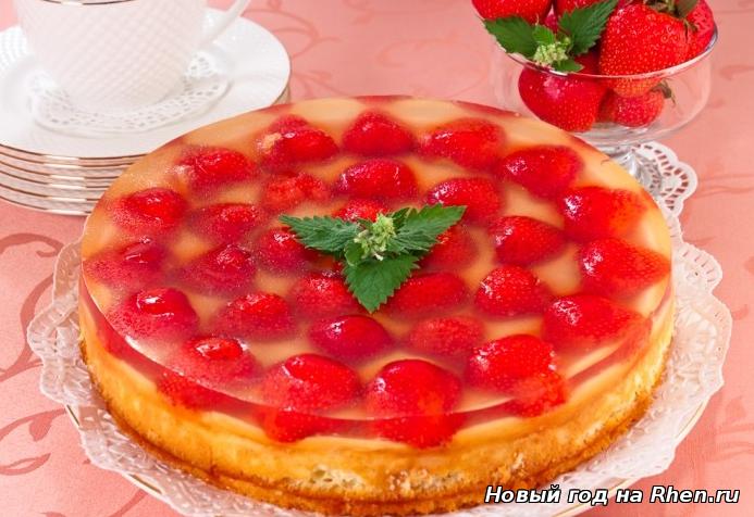 Бисквитный торт покрытый желе рецепт с фото
