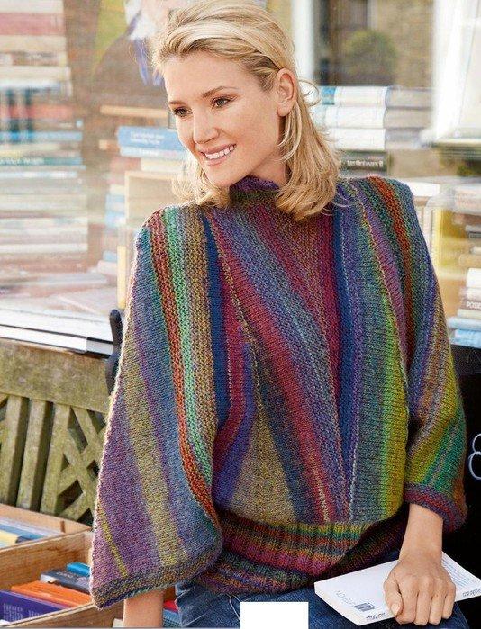 Вязание для полных. Жакет для пышных дам спицами Knitting 49
