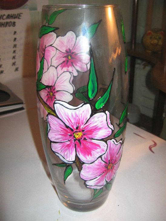 как раскрасить вазу акриловыми красками фото монтаже