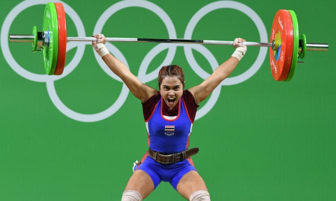 Сопита Танасан. Тяжёлая атлетика. Таиланд. Золото