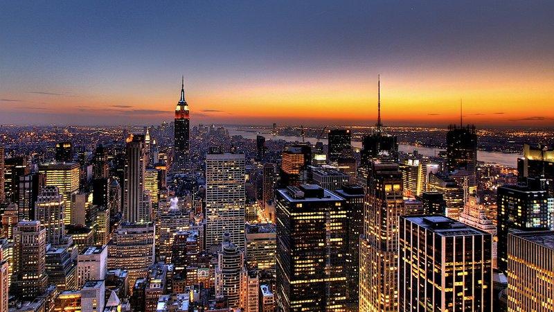 обои Нью-Йорка, города, гор...