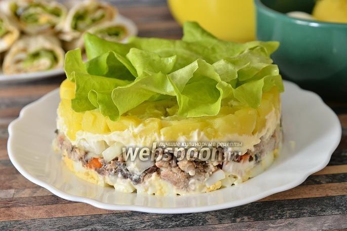 Салат изконсервированной сардины рецепт фото