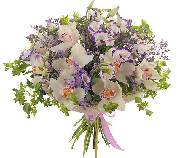 Букет орхидей открытка
