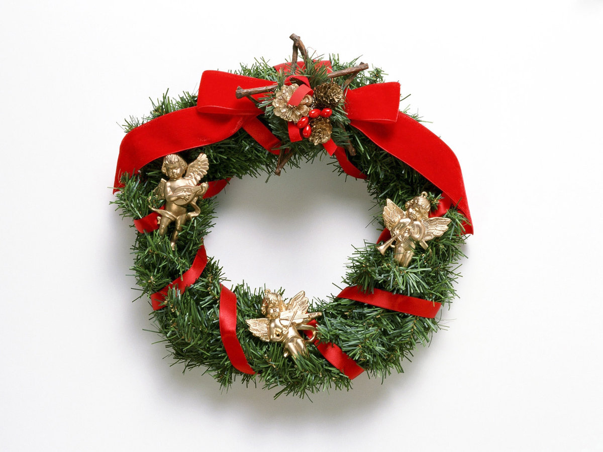 Картинки рождественский венок