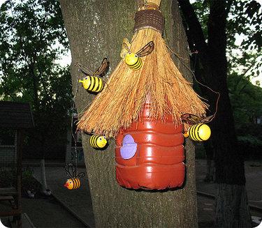 поделка улей с пчелами