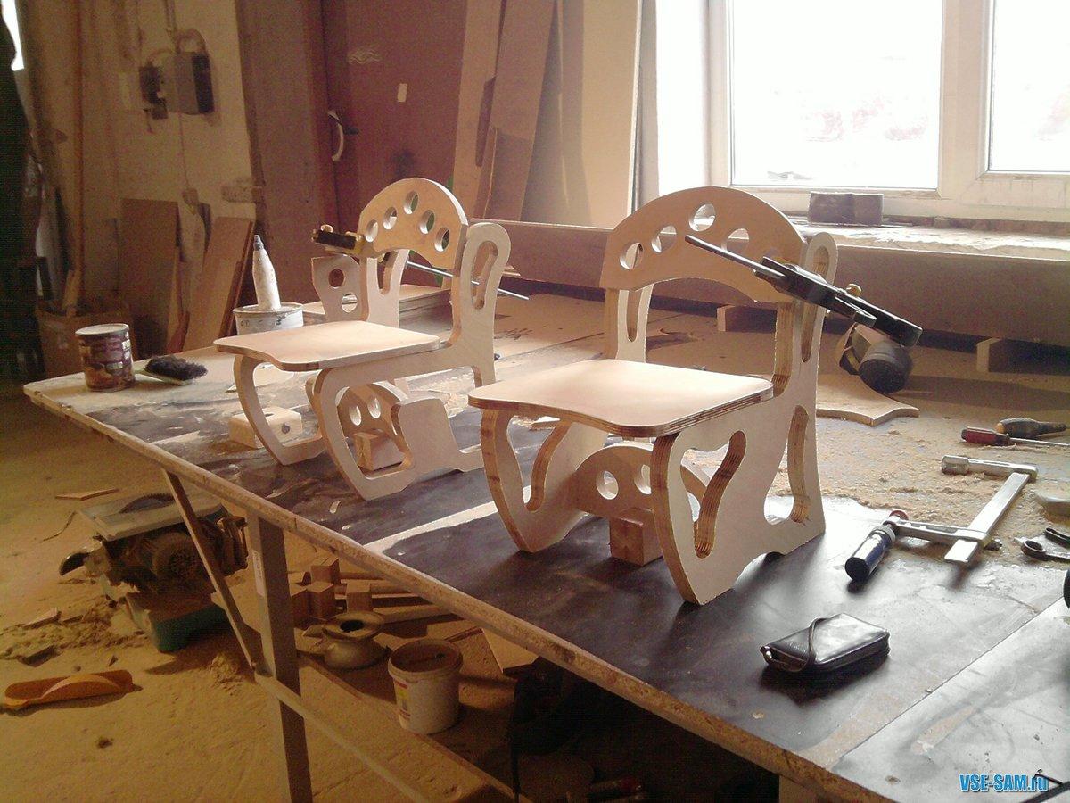 Кресло из фанеры своими руками чертежи фото 76