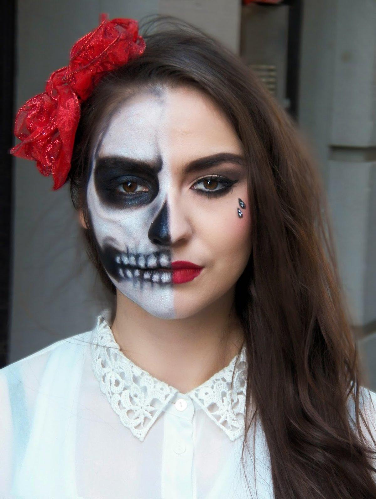 фотки макияжа на хэллоуин необходимо максимально уменьшить