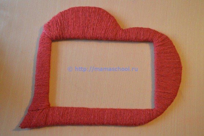 Рамка для фото своими руками из картона и ниток