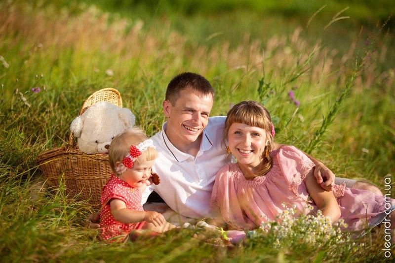фото семьи на природе летом без лица одежда