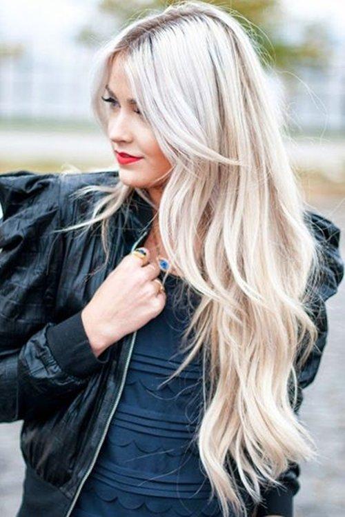 Блонд длинные волосы
