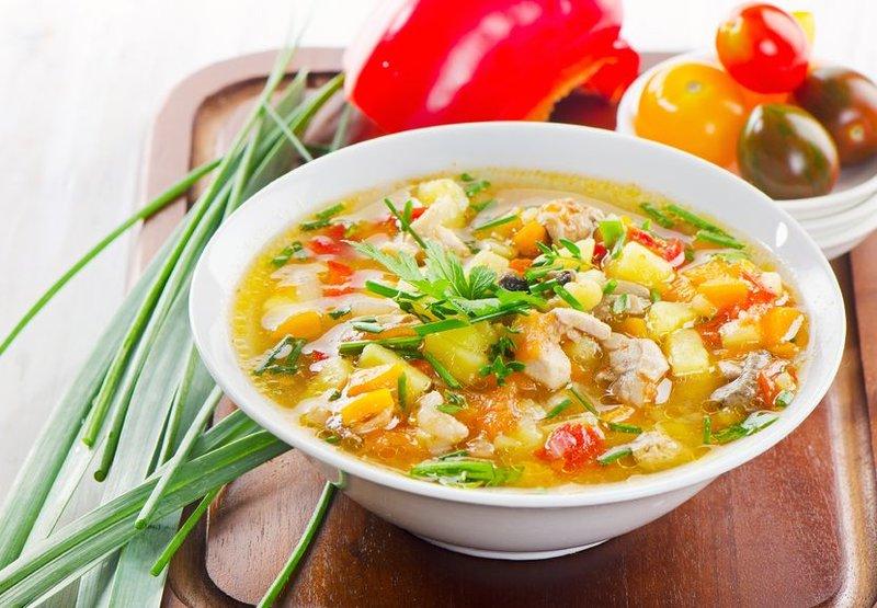 Овощной суп с яйцом рецепт с фото