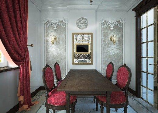 """Небольшая квартира, хозяева - любители классической прозы и в интерьере придерживаются традиций. Этот интерьер - ответ на вопрос """"можно ли предлагать классический стиль с элеменами барокко в маленьких помещениях""""."""