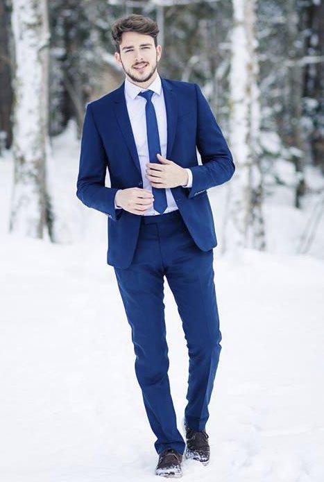 Костюм для жениха синий