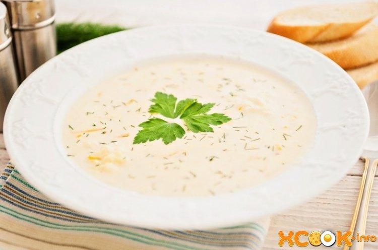 Крем суп сырный