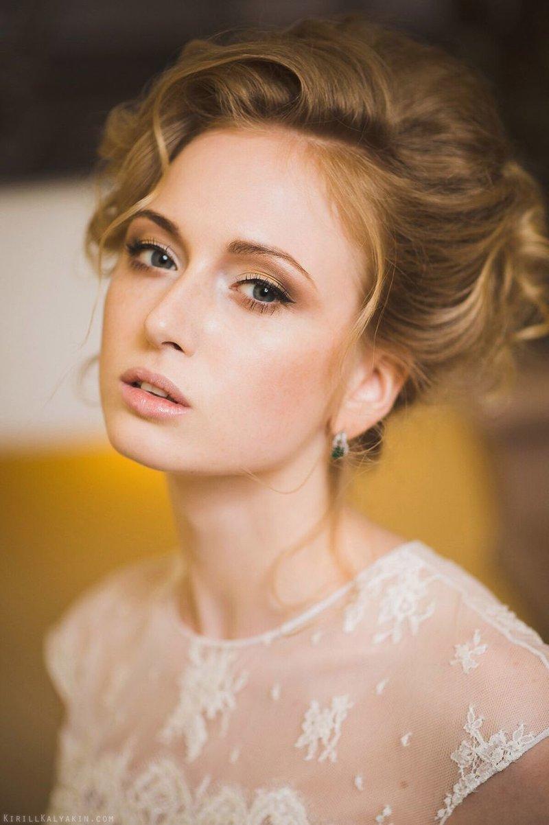 Невеста с легким мэйкапом